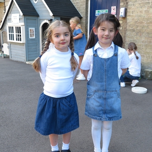 Girls and parents raise £416 Jeans for Genes Day