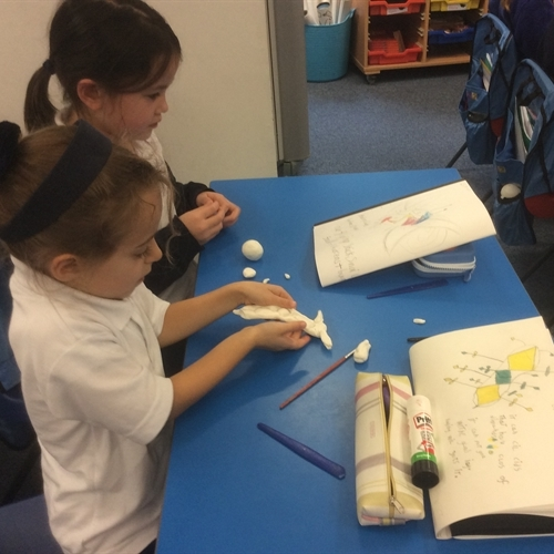 Year 2 combine art and science to create fantasy 'mini-beasts'