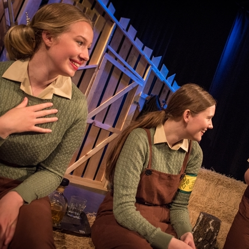 A socially-distanced drama production - our 'land girls' did us proud!
