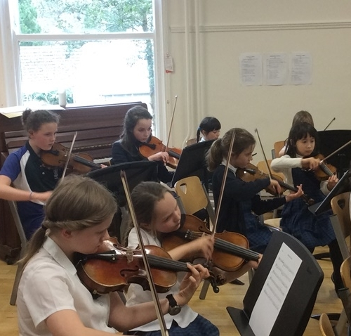Junior School string players make marvellous music