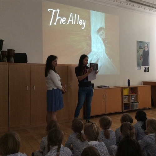 Visiting author inspires pupils with book that cannot be opened!