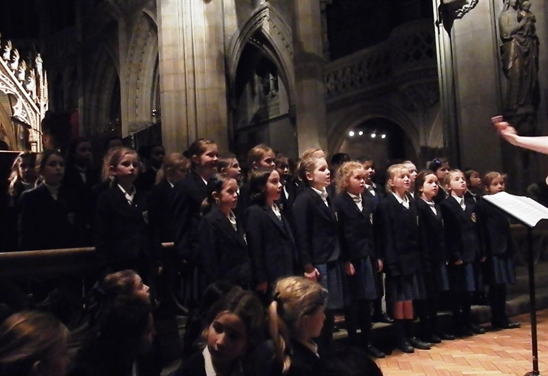 Carol singing at the Junior School