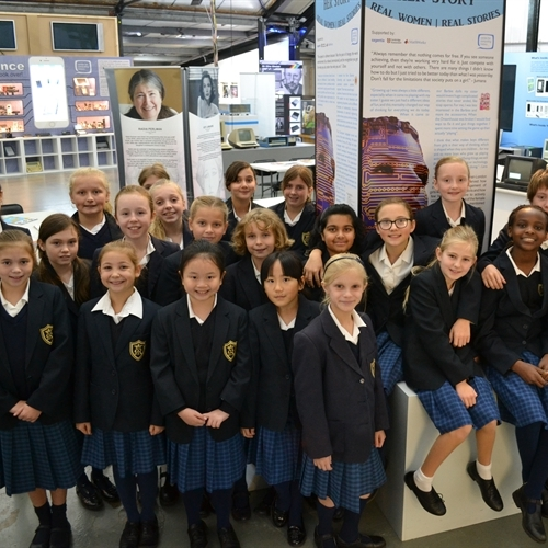 St Mary's girls help to launch Her Story exhibition