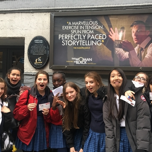 Year 11 Drama students have spine-chilling trip to see 'The Woman in Black'