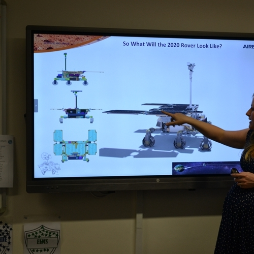 Full 'STEAM' ahead as engineer encourages girls to aim for the stars (and Mars!)