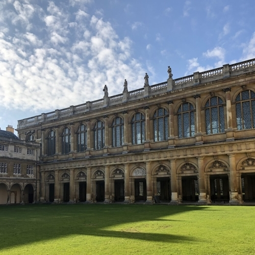Students enjoy private tour of the Wren Library