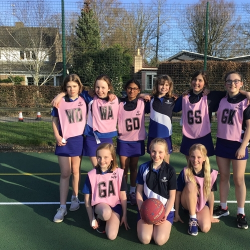 Year 6 netball team play final match of the season against SPF