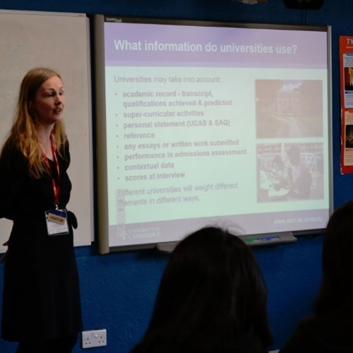 Girls get top admissions tips at UCAS day