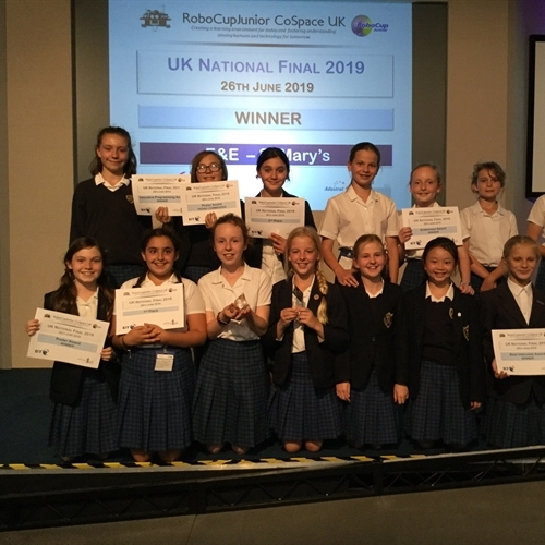 Year 6 become UK champions at RoboCupJunior Primary CoSpace final