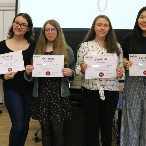 Sixth Formers 'graduate' from CAFOD Young Leaders programme