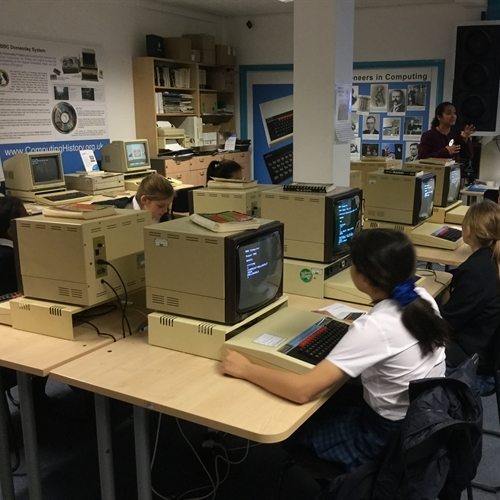 Girls help to launch 'Computing Herstory' exhibition