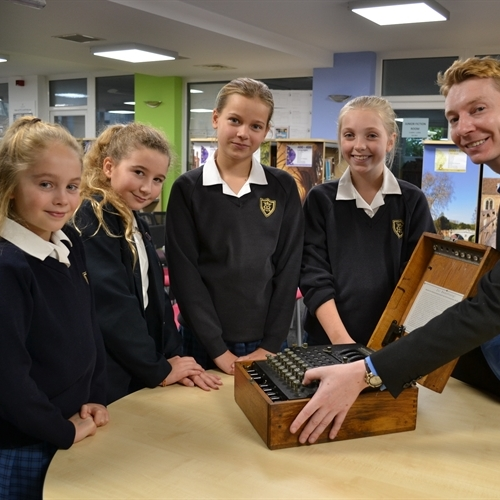 Pupils crack codes as World War II Enigma machine comes to St Mary's