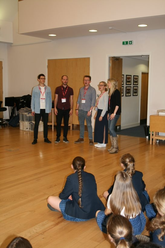 Students enjoy choral workshop with APOLLO5
