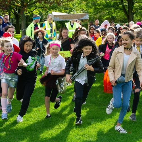 St Mary's students race back in time to raise money for charity