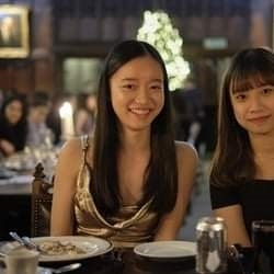 Boarders enjoy Christmas dinner at Peterhouse, Cambridge